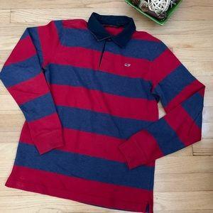 Vineyard Vines Long sleeve blue polo boys XL (18)